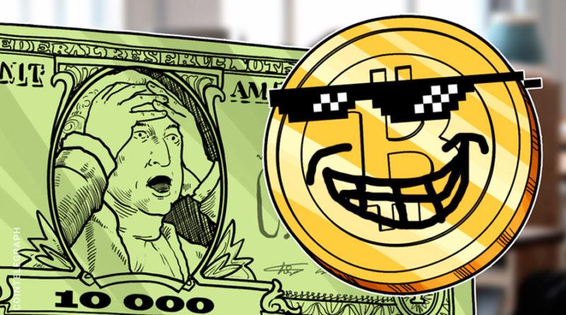 El precio del Bitcoin se recupera y supera los 10000 dólares0 dólares
