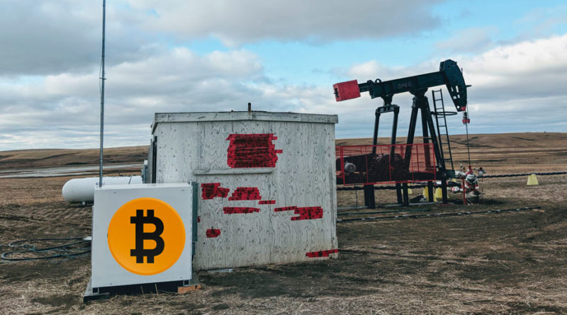 Mineria Bitcoin en campos de gas