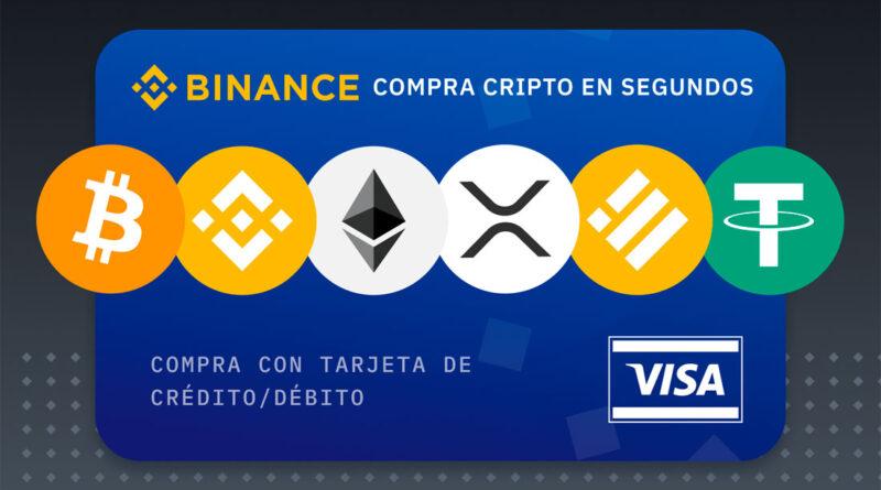 En Binance ahora puedes comprar Bitcoin con tarjeta VISA