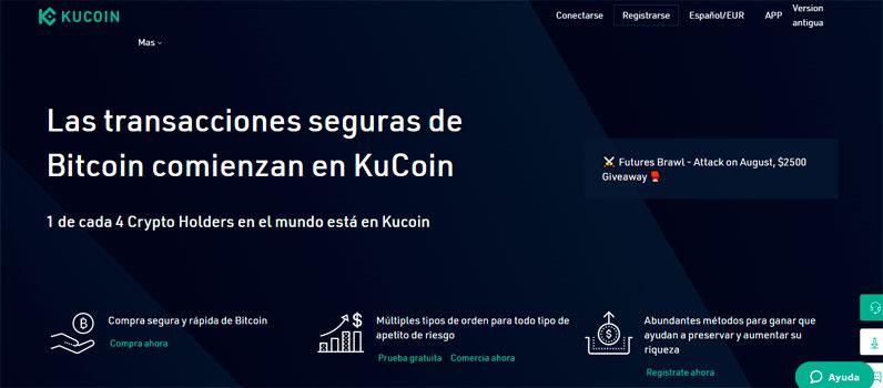 Kucoin es uno de los 10 mejores exchanges para trading de criptomonedas