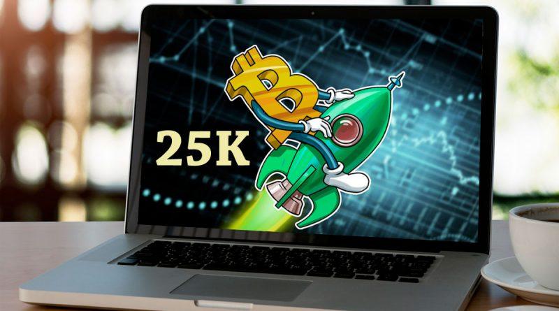 El Bitcoin alcanzó los 25 mil dólares por primera vez