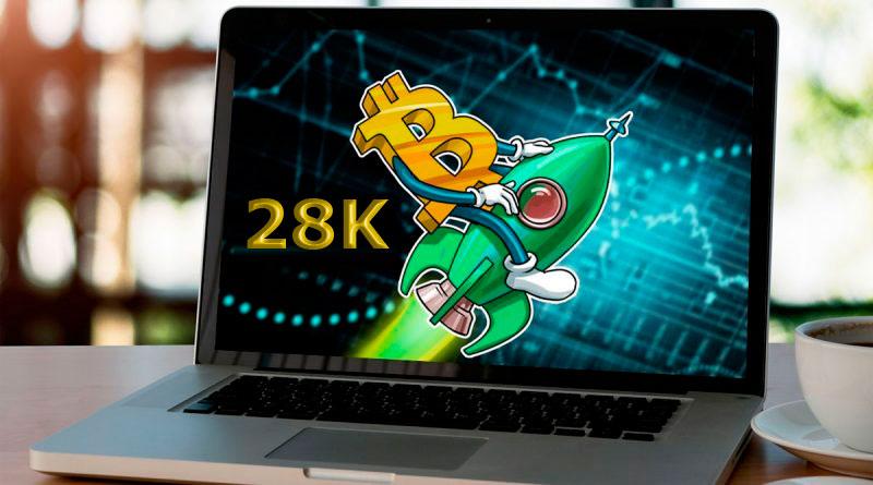 El Bitcoin supera los 28 mil dólares por primera vez