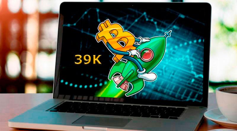 El precio del Bitcoin pasó los 39000 dólares por primera vez