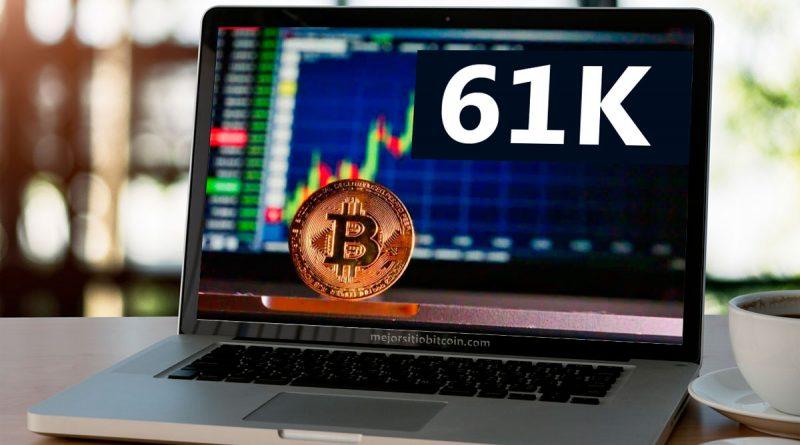 El Bitcoin tocó los 61000 dólares